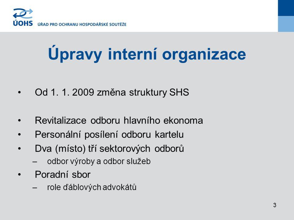 3 Úpravy interní organizace Od 1.1.