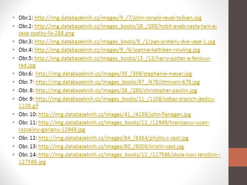 Obr.1: http://img.databazeknih.cz/images/9_/7/john-ronald-reuel-tolkien.jpghttp://img.databazeknih.cz/images/9_/7/john-ronald-reuel-tolkien.jpg Obr.2: