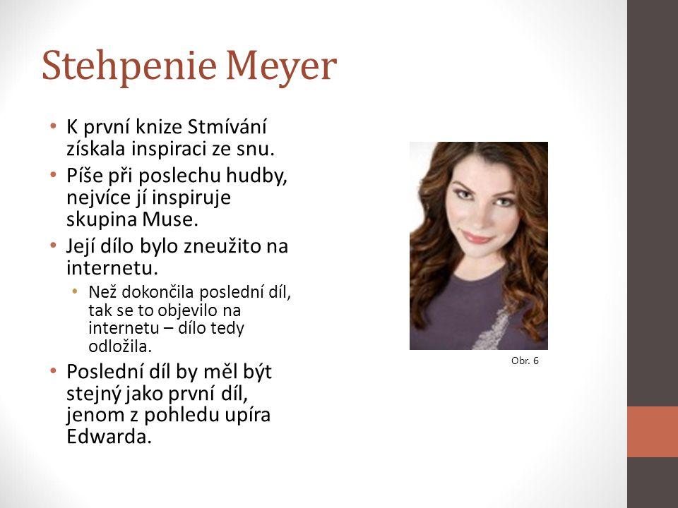 Stehpenie Meyer K první knize Stmívání získala inspiraci ze snu. Píše při poslechu hudby, nejvíce jí inspiruje skupina Muse. Její dílo bylo zneužito n
