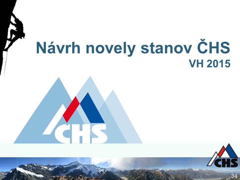 34 Návrh novely stanov ČHS VH 2015