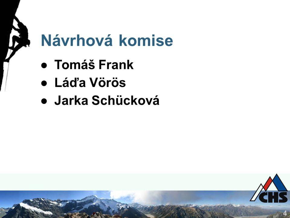 4 Návrhová komise ●Tomáš Frank ●Láďa Vörös ●Jarka Schücková