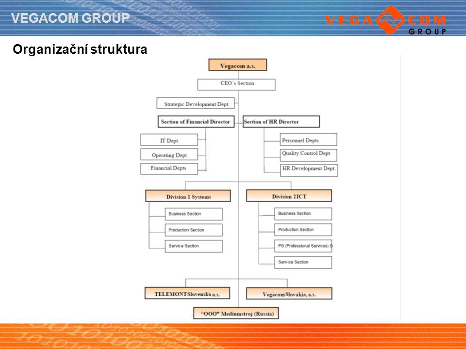 VEGACOM GROUP Organizační struktura