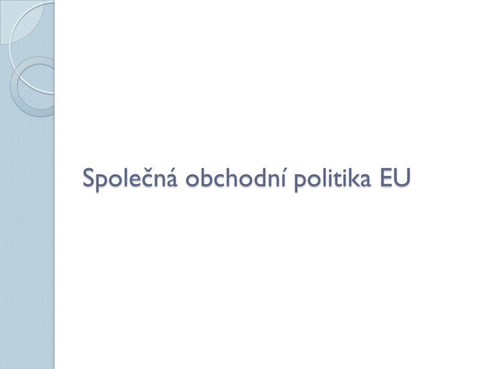 Společná obchodní politika EU