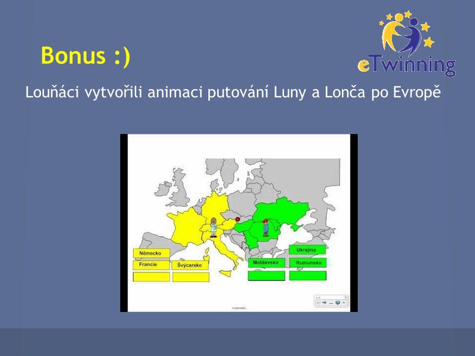 Bonus :) Louňáci vytvořili animaci putování Luny a Lonča po Evropě