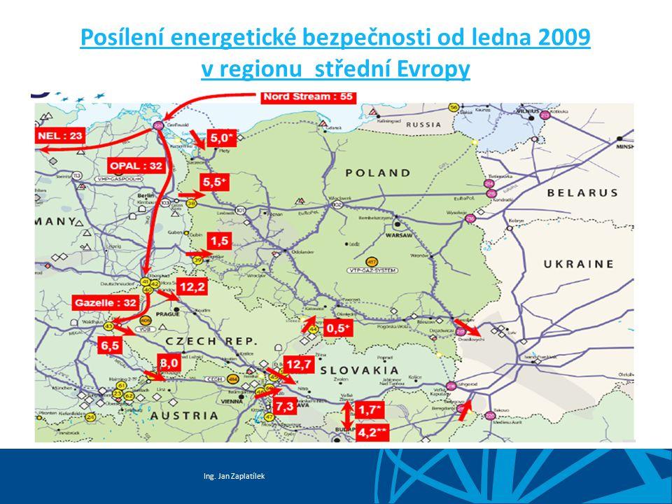 Ing. Jan Zaplatílek Posílení energetické bezpečnosti od ledna 2009 v regionu střední Evropy