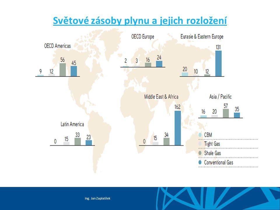 Ing. Jan Zaplatílek Světové zásoby plynu a jejich rozložení
