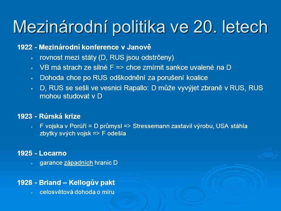 Mezinárodní politika ve 20.