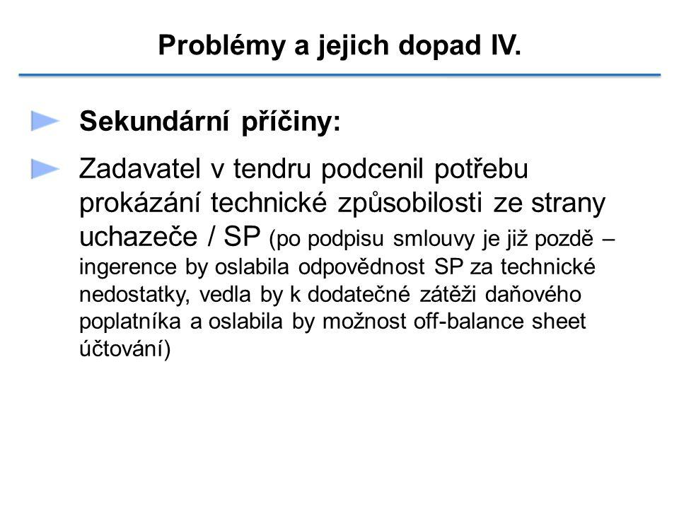 Problémy a jejich dopad IV.
