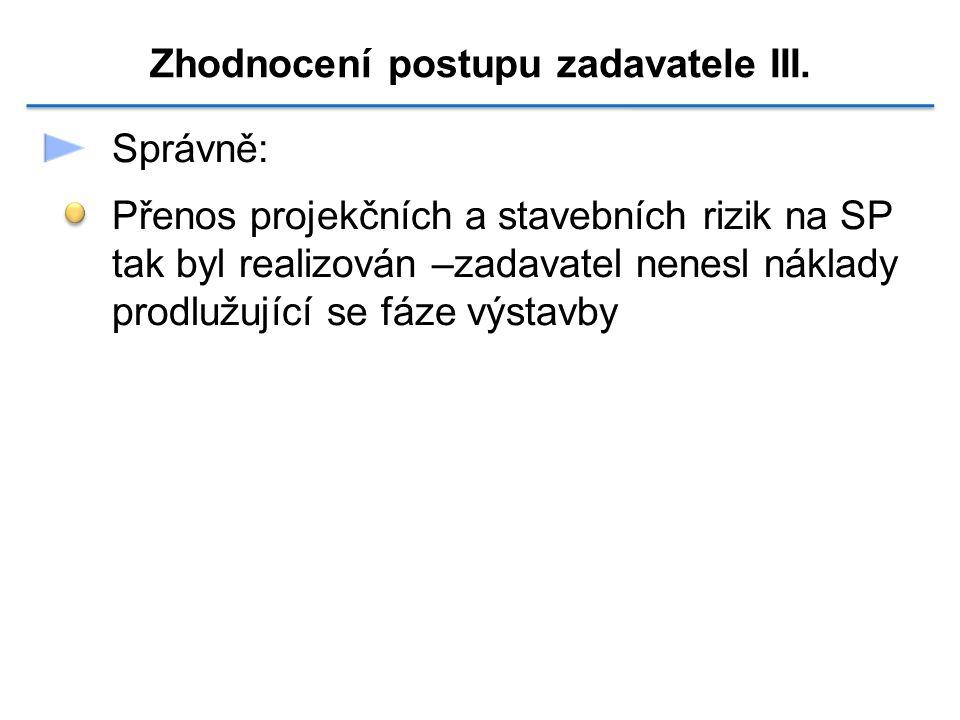 Zhodnocení postupu zadavatele III.