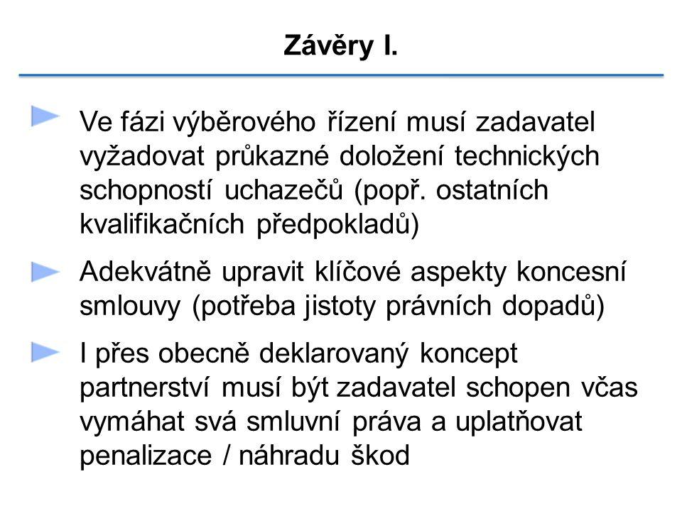 Závěry I.