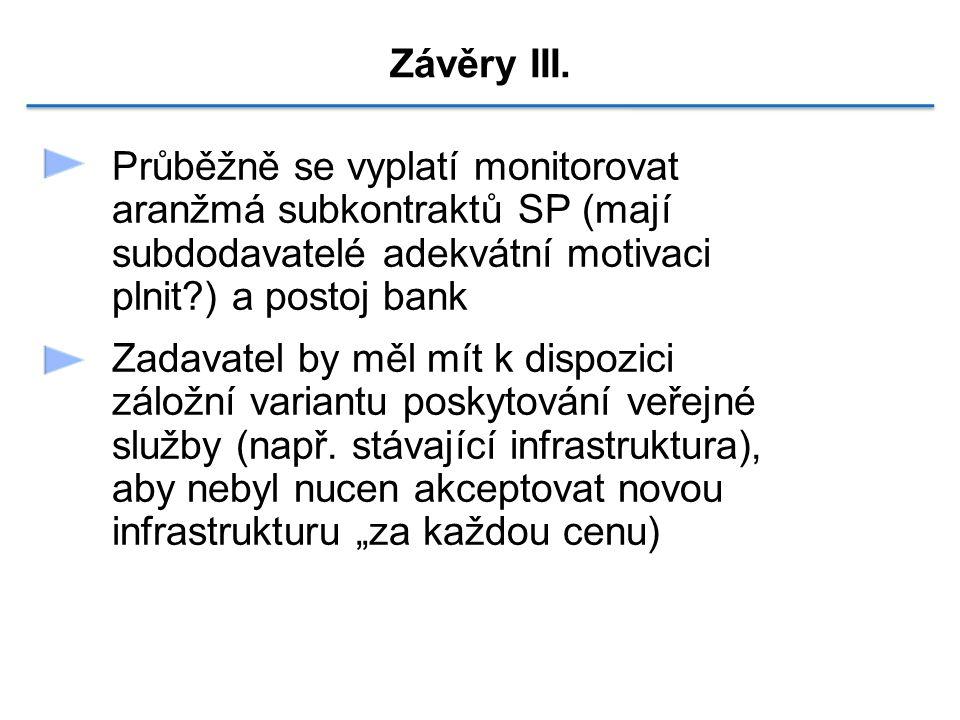 Závěry III.