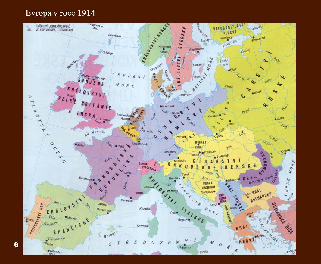 6 Evropa v roce 1914