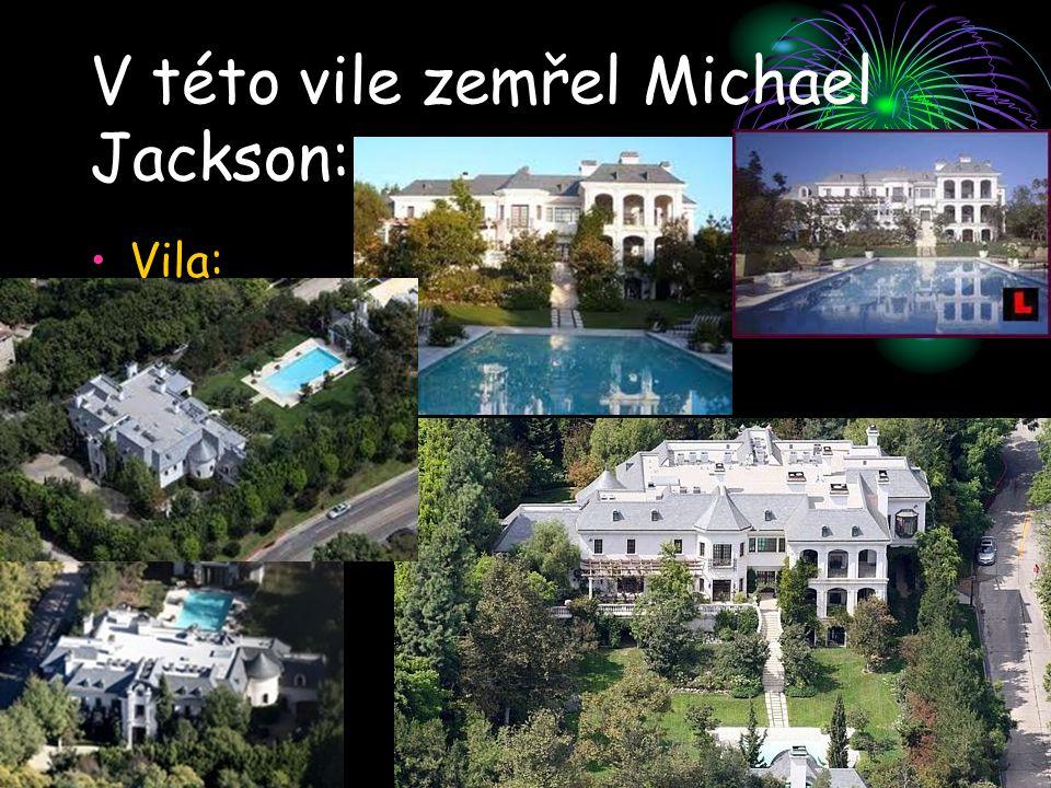 V této vile zemřel Michael Jackson: Vila:
