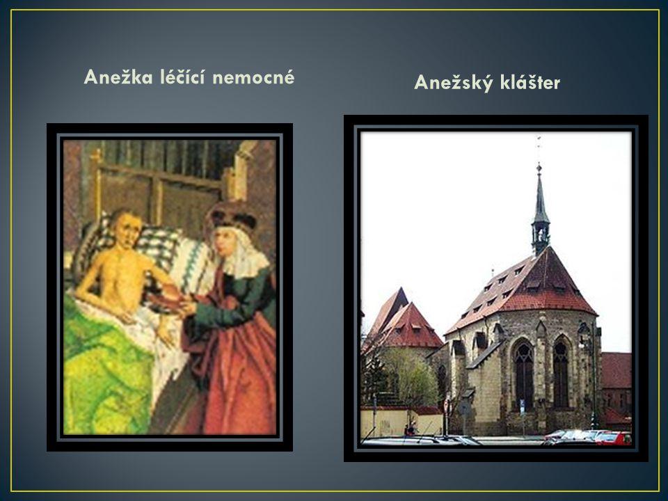 Anežka léčící nemocné Anežský klášter