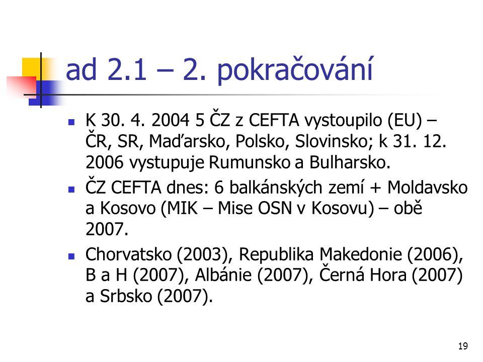 19 ad 2.1 – 2. pokračování K 30. 4.