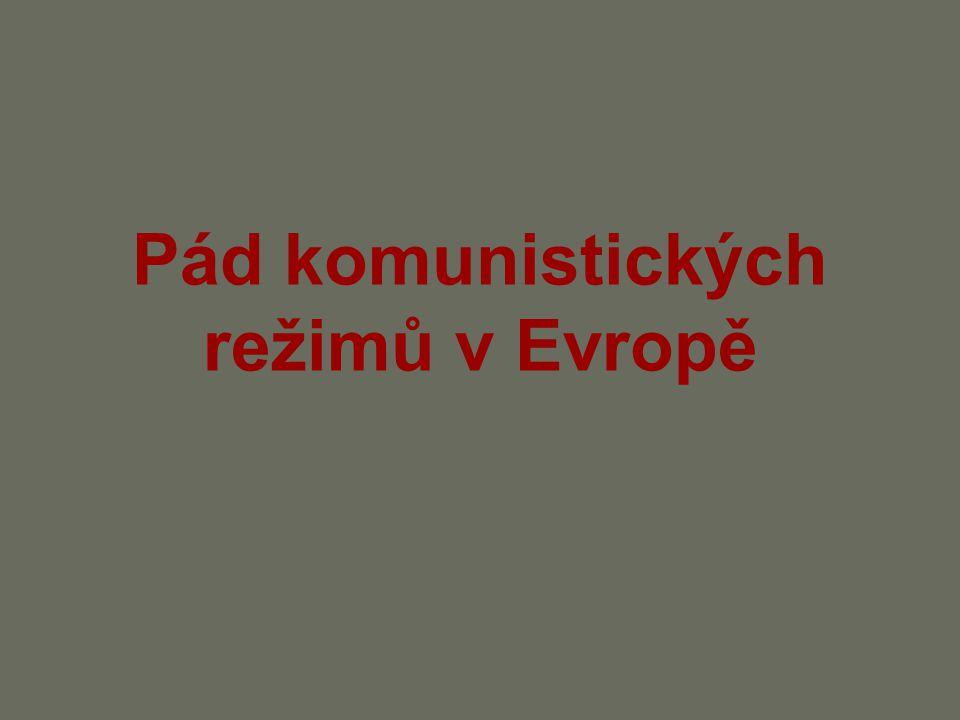 Pád komunistických režimů v Evropě