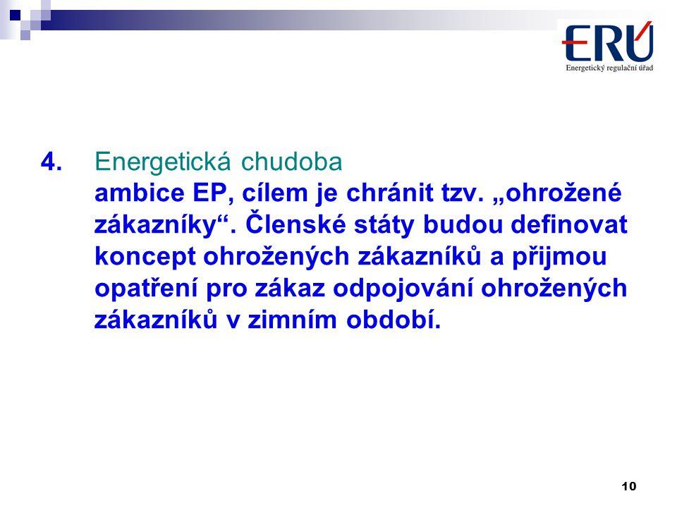 10 4. Energetická chudoba ambice EP, cílem je chránit tzv.