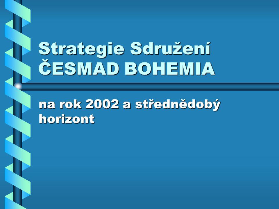 Strategie Sdružení ČESMAD BOHEMIA na rok 2002 a střednědobý horizont