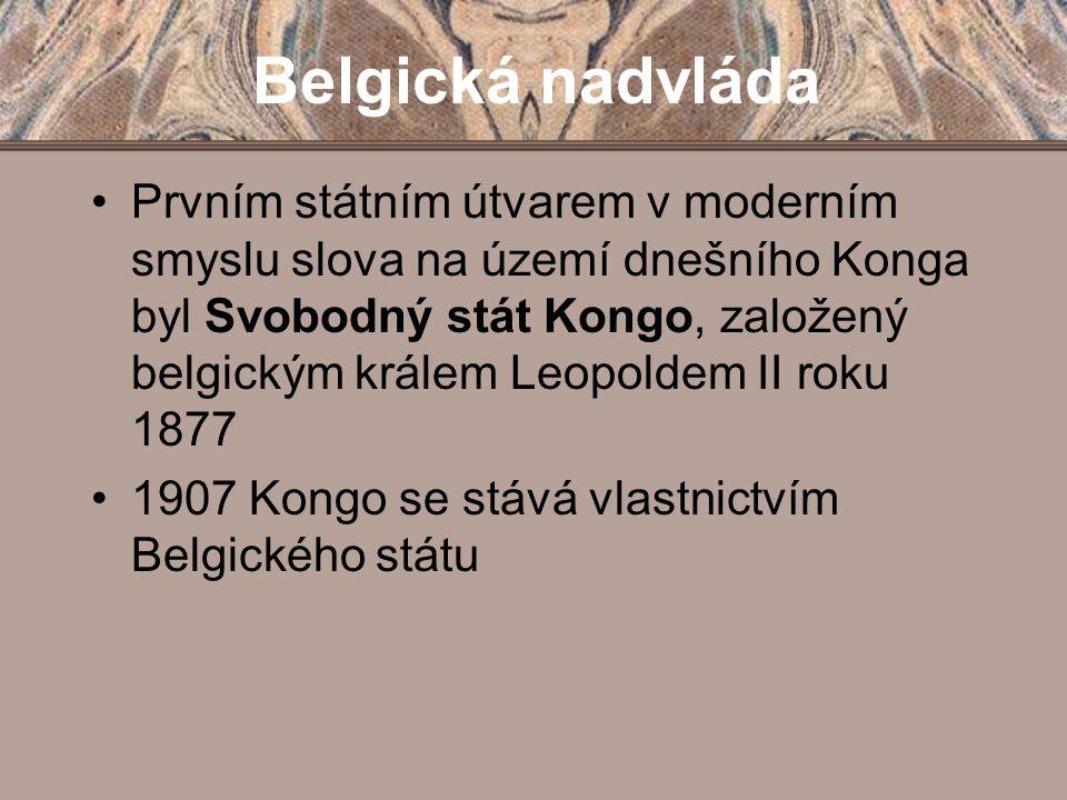 Prvním státním útvarem v moderním smyslu slova na území dnešního Konga byl Svobodný stát Kongo, založený belgickým králem Leopoldem II roku 1877 1907