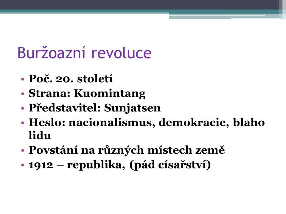 Buržoazní revoluce Poč. 20.