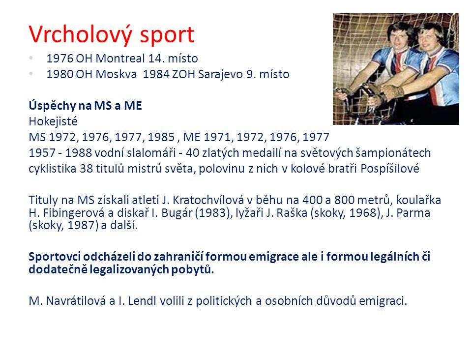 Vrcholový sport 1976 OH Montreal 14. místo 1980 OH Moskva 1984 ZOH Sarajevo 9. místo Úspěchy na MS a ME Hokejisté MS 1972, 1976, 1977, 1985, ME 1971,