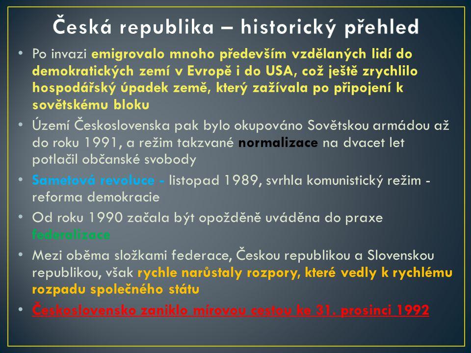 Po invazi emigrovalo mnoho především vzdělaných lidí do demokratických zemí v Evropě i do USA, což ještě zrychlilo hospodářský úpadek země, který zaží