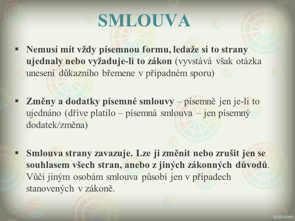 ZÁNIK ZÁVAZKU SPLNĚNÍM § 1908 a násl.