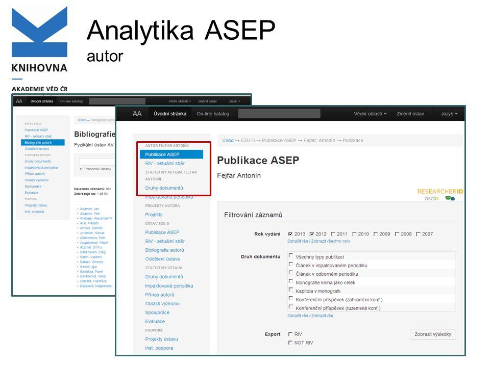 Analytika ASEP autor
