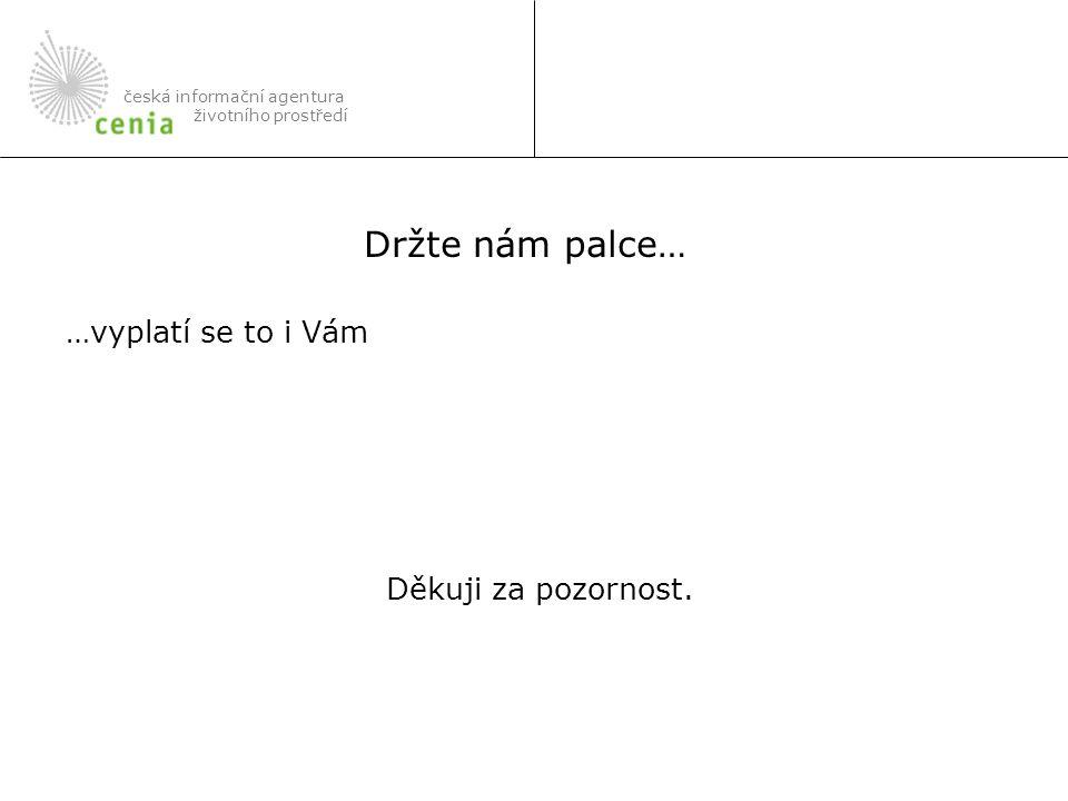 …vyplatí se to i Vám Děkuji za pozornost. česká informační agentura životního prostředí Držte nám palce…