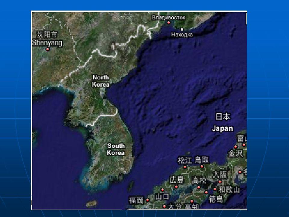 Korea zaujímá celý Korejský poloostrov i část přilehlé asijské pevniny.