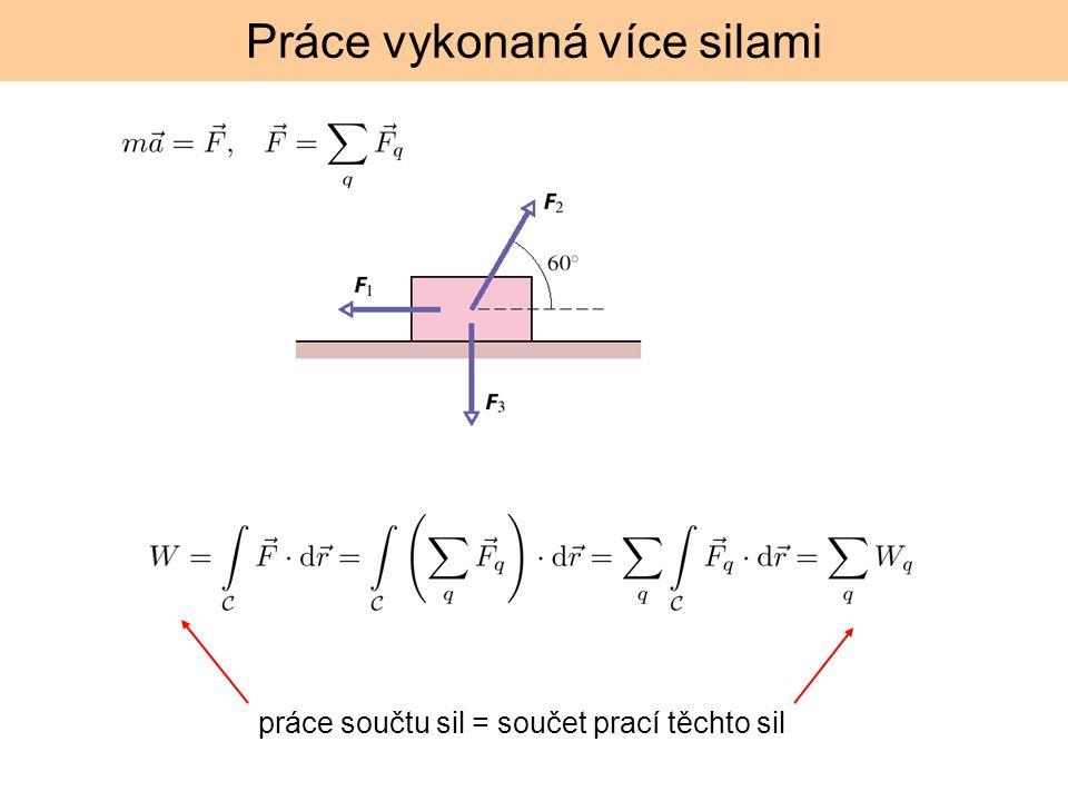 Práce konstantní síly zvolme SS tak aby: Výsledek je skalár – tj.