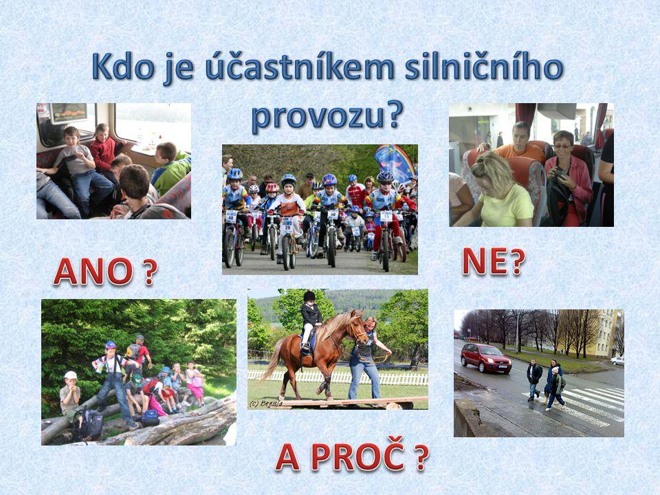 Cyklista může jet jen tak rychle, aby mohl zastavit a) vždy na místě b) na vzdálenost, na kterou má rozhled c) vždy na vzdálenost 10 m
