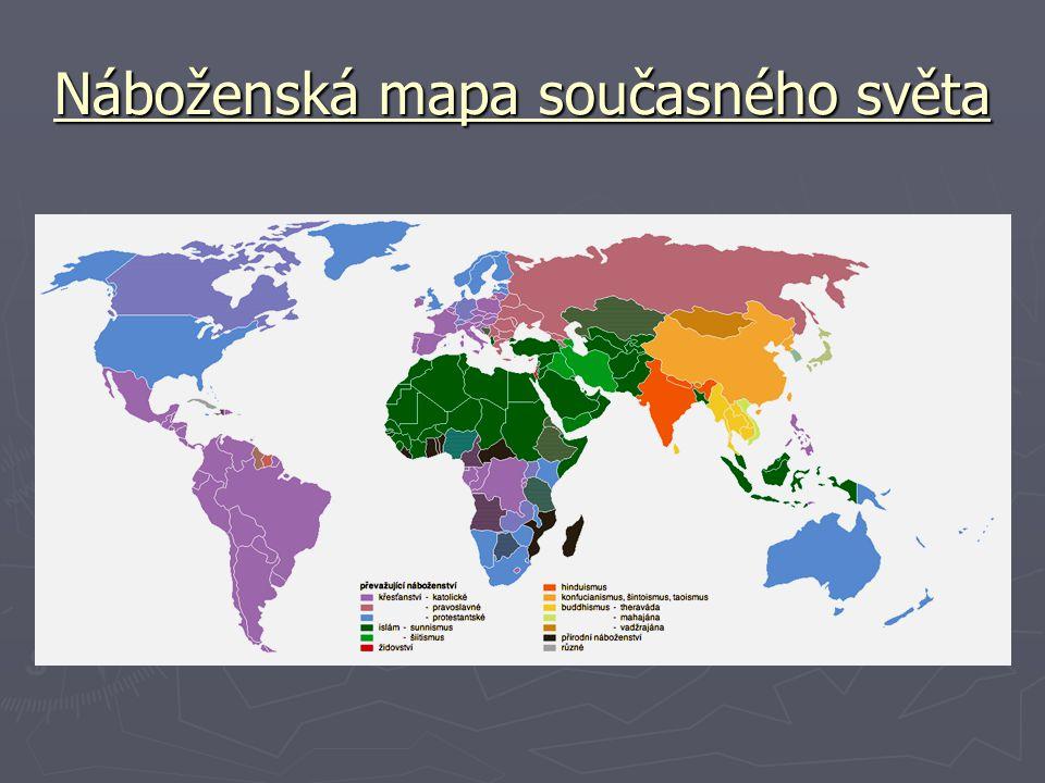Náboženská mapa současného světa