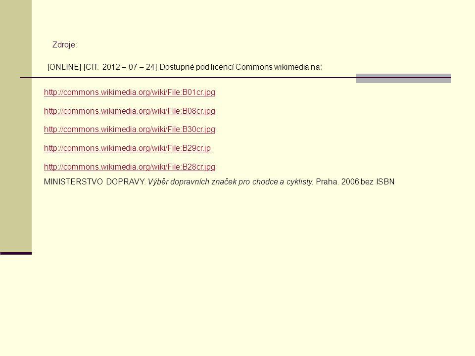 Zdroje: http://commons.wikimedia.org/wiki/File:B30cr.jpg http://commons.wikimedia.org/wiki/File:B29cr.jp http://commons.wikimedia.org/wiki/File:B28cr.