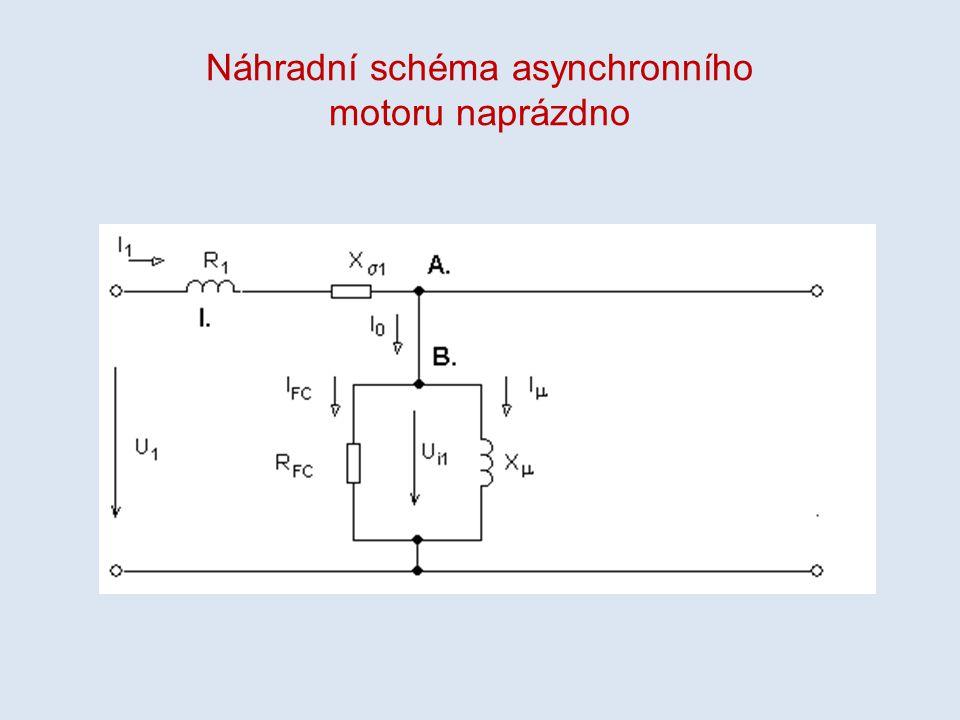 Náhradní schéma asynchronního motoru naprázdno