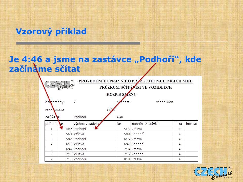 Z desek si vytáhneme formulář pro linku 4, který obsahuje oddíl č.1.