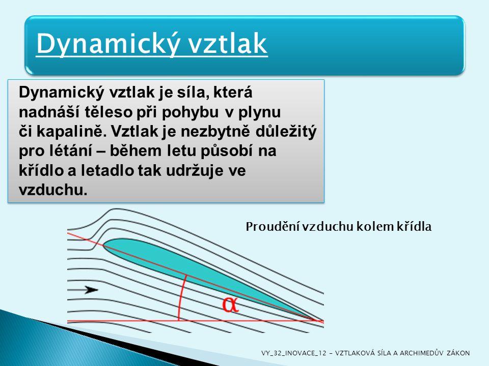 Dynamický vztlak je síla, která nadnáší těleso při pohybu v plynu či kapalině. Vztlak je nezbytně důležitý pro létání – během letu působí na křídlo a