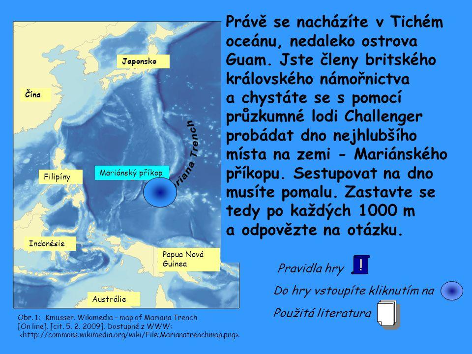 Čína Japonsko Filipíny Indonésie Papua Nová Guinea Austrálie Mariánský příkop Obr. 1: Kmusser. Wikimedia – map of Mariana Trench [On line]. [cit. 5. 2
