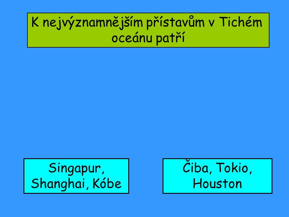 K nejvýznamnějším přístavům v Tichém oceánu patří Singapur, Shanghai, Kóbe Čiba, Tokio, Houston