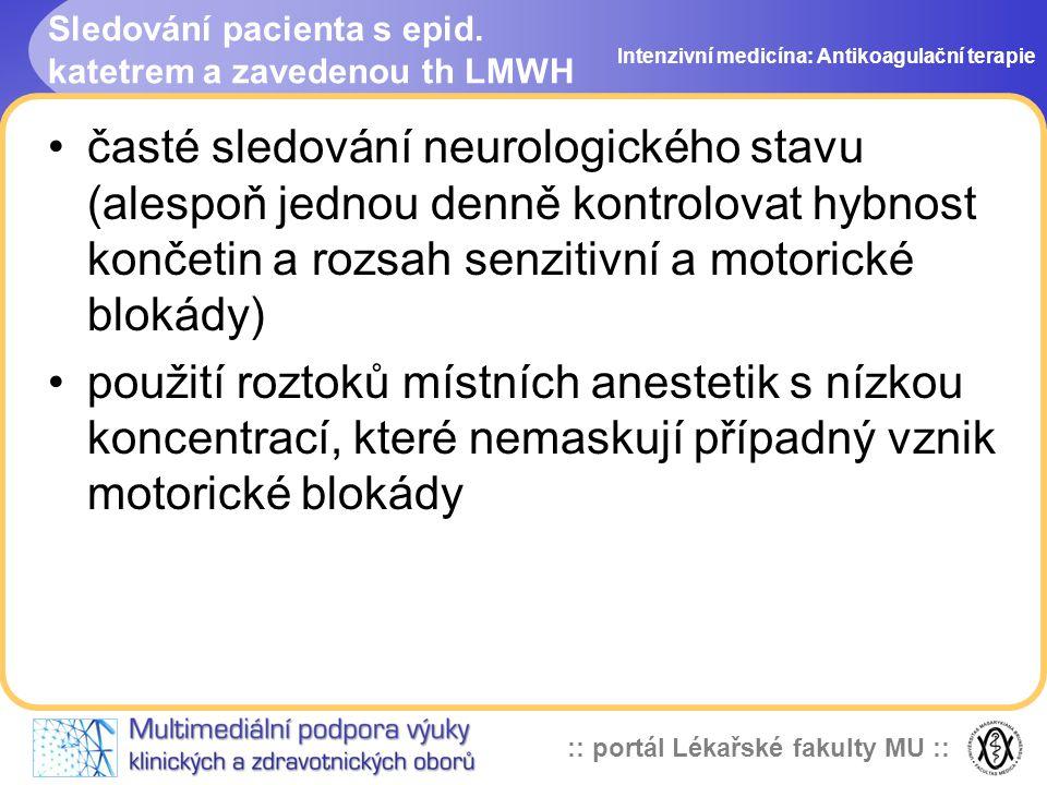 :: portál Lékařské fakulty MU :: Sledování pacienta s epid.