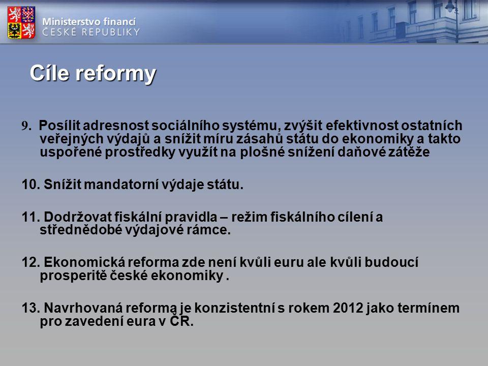 Cíle reformy 9.