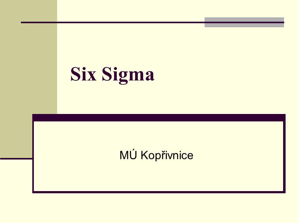 12 Projekty Six Sigma Projekty Six Sigma probíhají ve fázích DMAIC.