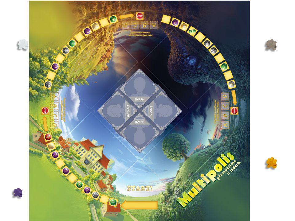 Dva hráči na stejném poli Pokud hráč řeší situaci na poli, kde je i figurka jiného hráče, tento jiný hráč automaticky ztrácí nebo získává žetony stejně jako hráč, který situaci řeší.