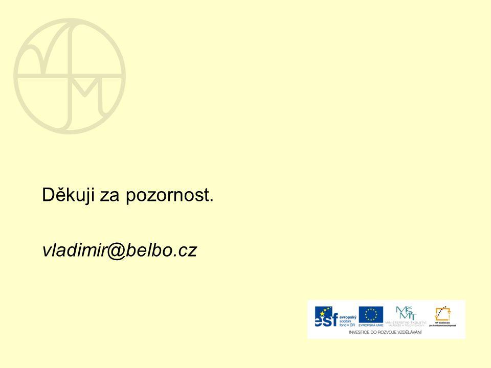 Děkuji za pozornost. vladimir@belbo.cz