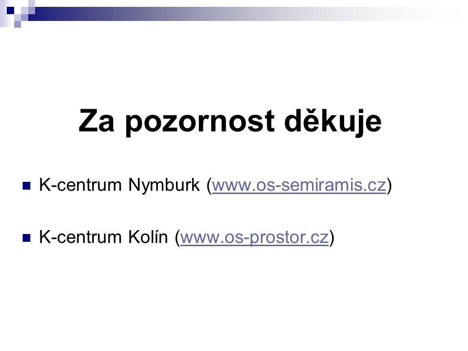 Za pozornost děkuje K-centrum Nymburk (www.os-semiramis.cz)www.os-semiramis.cz K-centrum Kolín (www.os-prostor.cz)www.os-prostor.cz