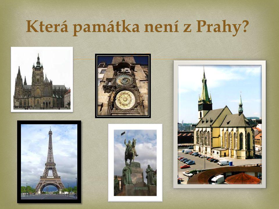  Která památka není z Prahy