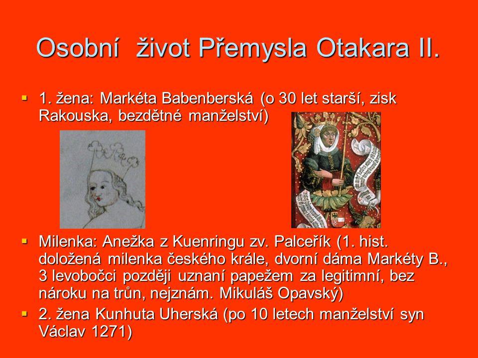 Osobní život Přemysla Otakara II. 1.