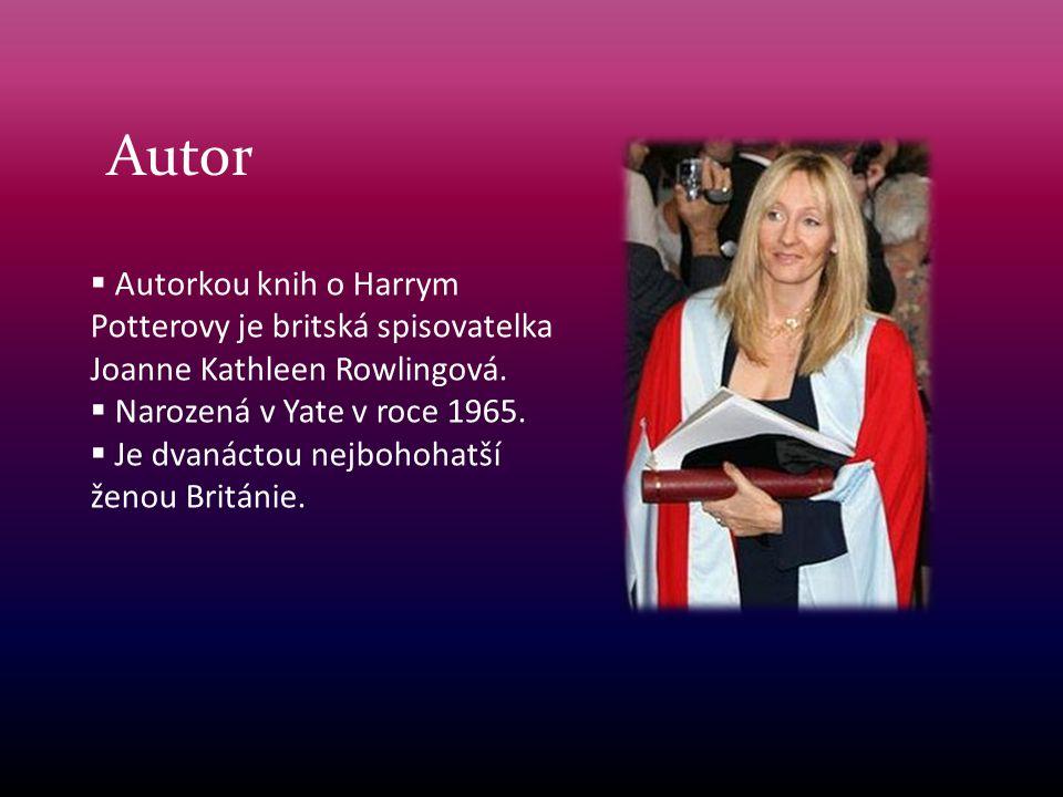 Autor  Autorkou knih o Harrym Potterovy je britská spisovatelka Joanne Kathleen Rowlingová.