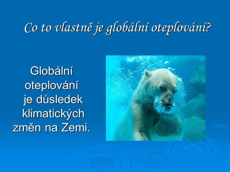 Globální oteplování Vojta Voborník 8.B
