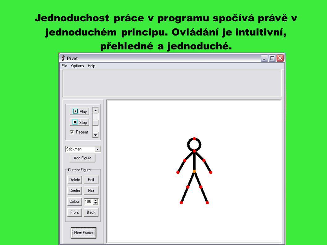 Jednoduchost práce v programu spočívá právě v jednoduchém principu.